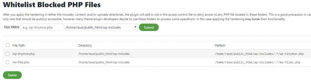 Sucuri Blocked PHP file