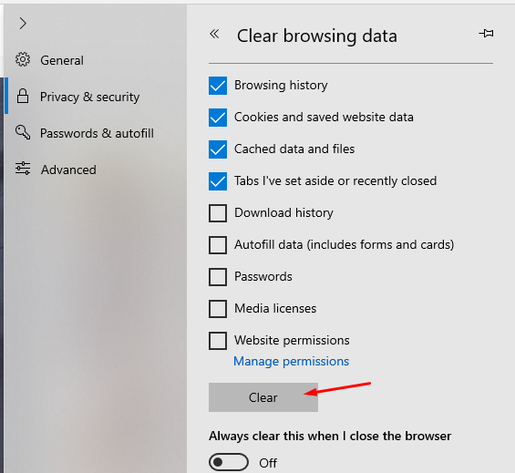 How to clear cache in Internet Explorer