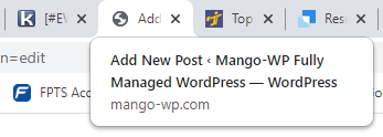 The tagline displayed on the front end of your WordPress site under the site title