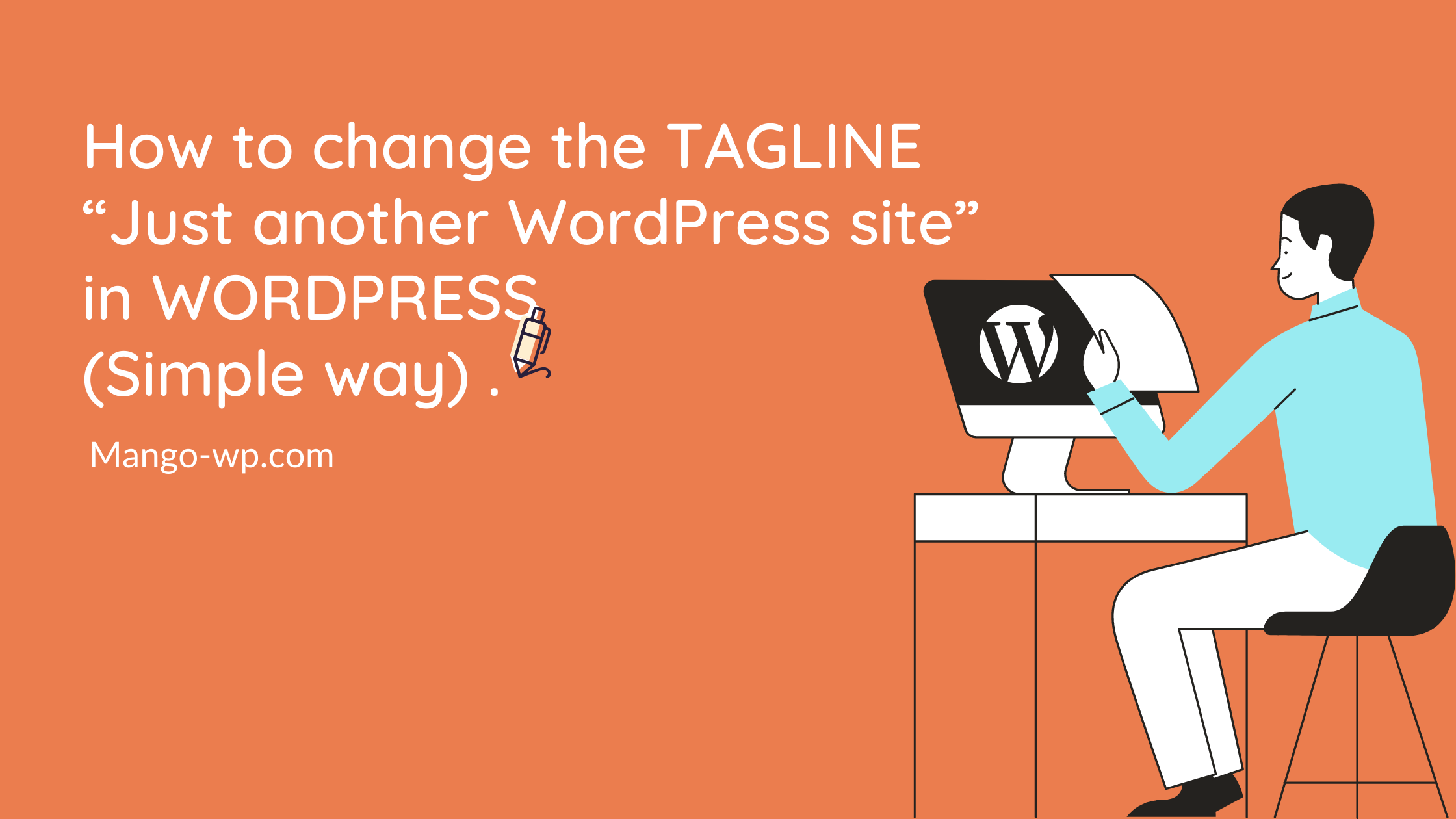 How to change the tagline in WordPress