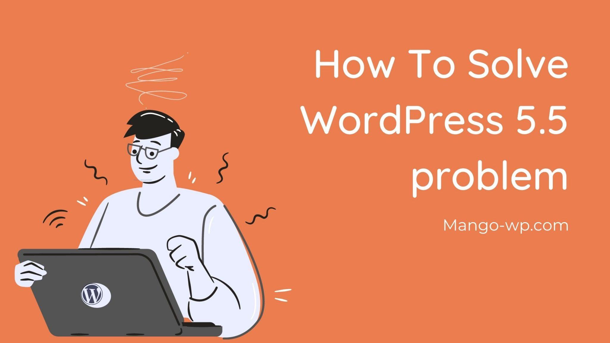 Solution for WordPress 5.5 problem