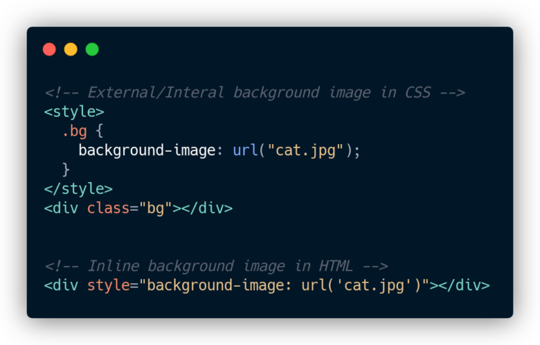Inline background image in HTML