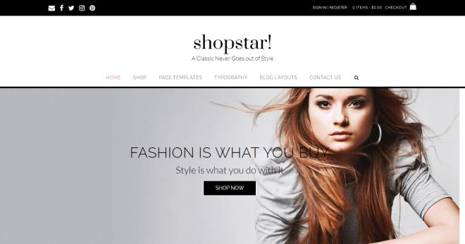 Shopstar free theme